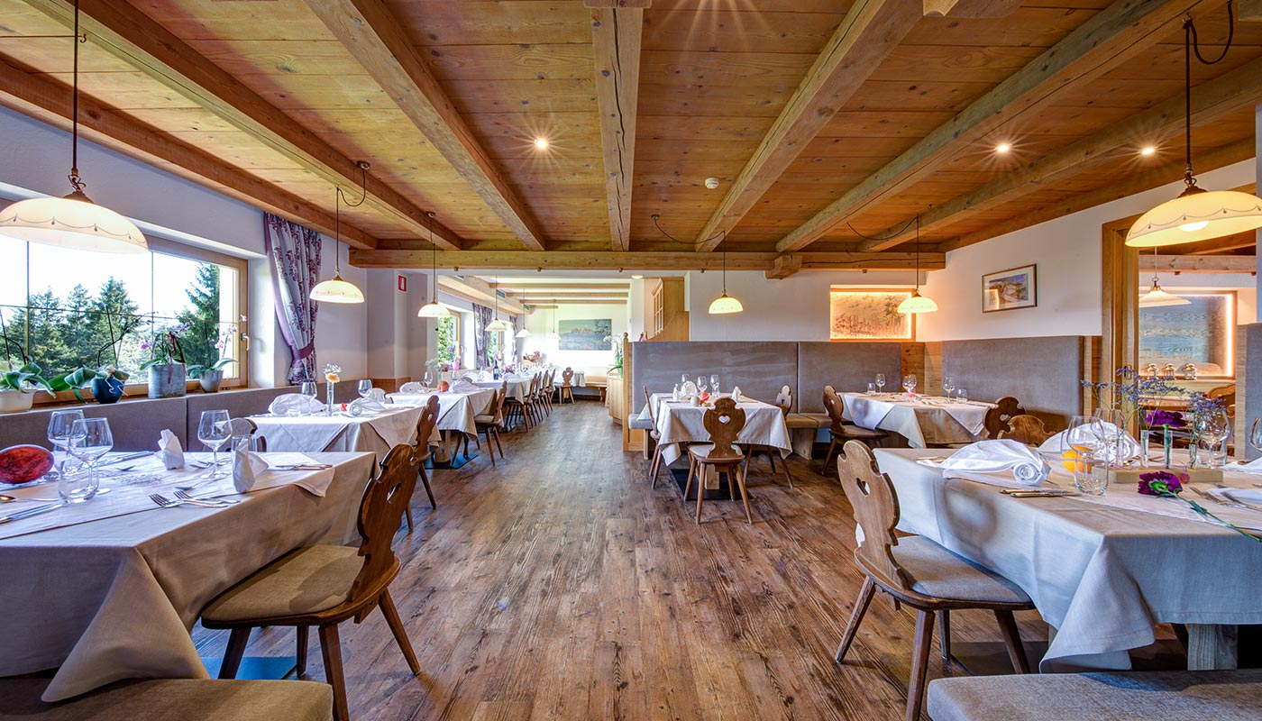 The Restaurant of the Hotel in Val d'Ega